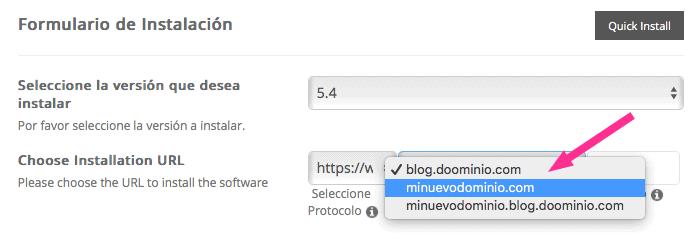 Instalando WordPress en un subdominio