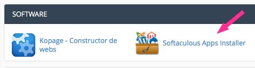 Icono de Softaculous en cPanel