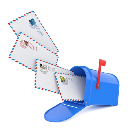 Mailbox with Letters.
