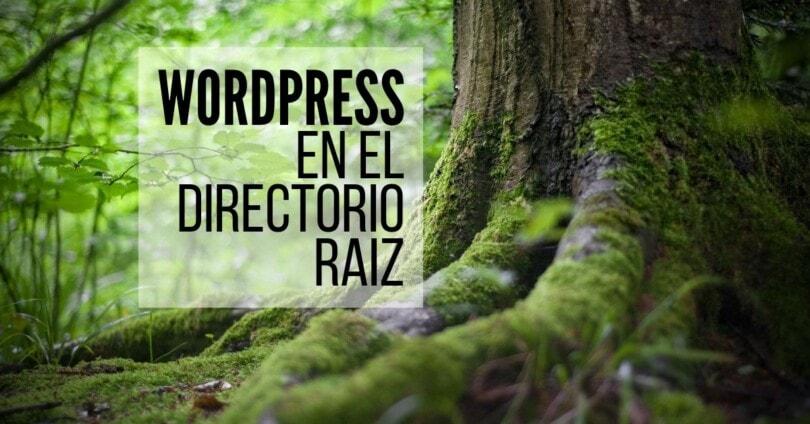 WordPress en el directorio raíz