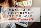 Cambiar la fecha del Copyright automáticamente