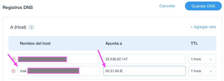 Configurando un registro A