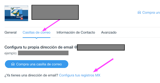 Configurar el registro MX
