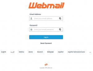 Captura de pantalla de Webmail
