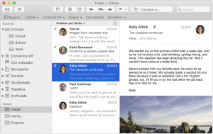 Captura de pantalla de Apple Mail