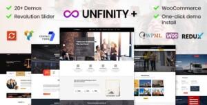 Captura de pantalla del theme de WordPress Unfinity