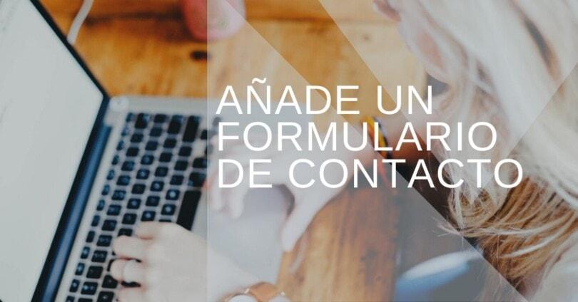 Formulario de contacto en WordPress