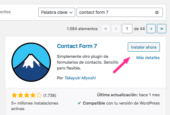 Instalar plugin de WordPress